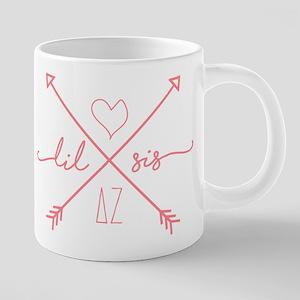 Delta Zeta Lil Sis Arrows 20 oz Ceramic Mega Mug
