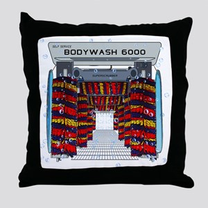 CAR WASH SHOWER CURTAIN Throw Pillow