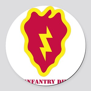 SSI - 25th Infantry Division with Round Car Magnet