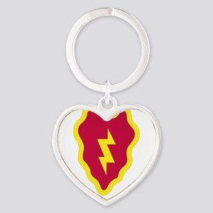 SSI - 25th Infantry Division with T Heart Keychain