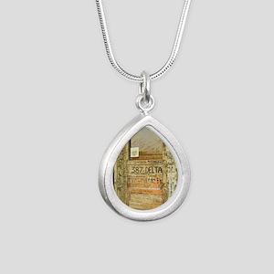 Ground Zero Delta Door S Silver Teardrop Necklace