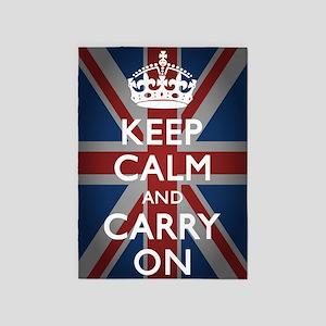 Keep Calm And Carry On 5'x7'Area Rug