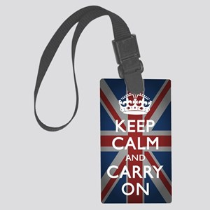 Keep Calm And Carry On Large Luggage Tag