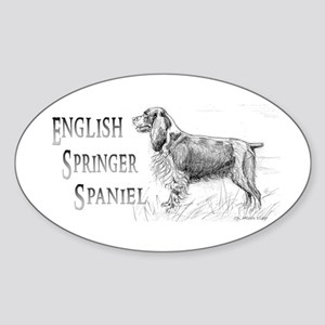 English Springer Spaniel Oval Sticker