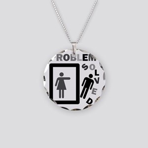 funny divorce problem solved Necklace Circle Charm