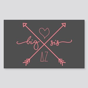 Delta Zeta Big Sis Arrows Sticker (Rectangle)