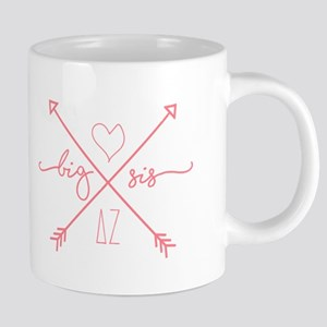 Delta Zeta Big Sis Arrows 20 oz Ceramic Mega Mug