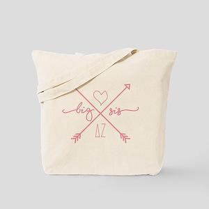 Delta Zeta Big Sis Arrows Tote Bag