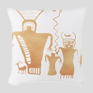 Sky Family Woven Throw Pillow