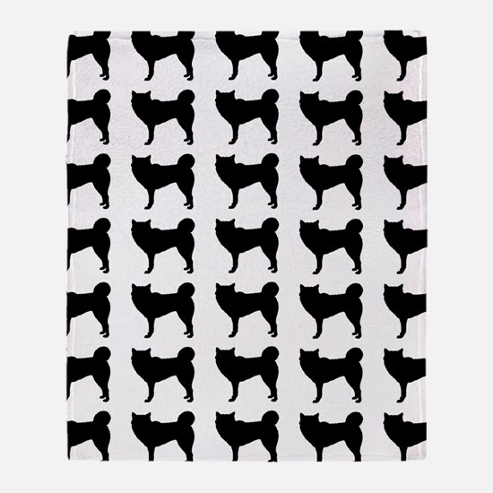 Siberian Husky Silhouette Flip Flops Throw Blanket
