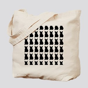 French Bulldog Silhouette Flip Flops In B Tote Bag