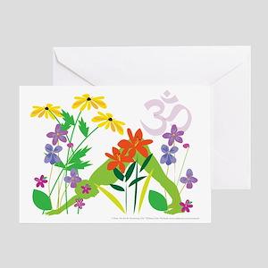 Humming Flowers Greeting Card