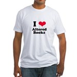 I Love Altered Books Fitted T-Shirt