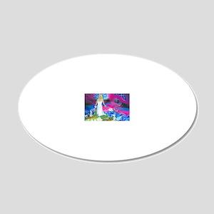 Virgo Zodiac Sign 20x12 Oval Wall Decal