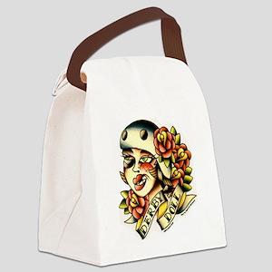 Derby Doll Canvas Lunch Bag