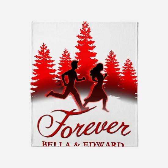 Forever Bella  Edward! Throw Blanket