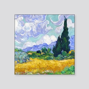 "Van Gogh Square Sticker 3"" x 3"""