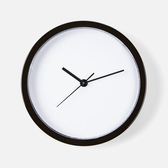 dobermanwht Wall Clock