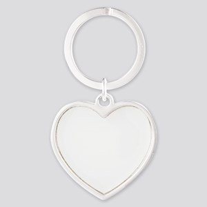 dobermanwht Heart Keychain
