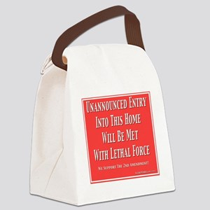 Lethal Force Canvas Lunch Bag