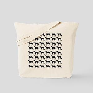 Greyhound Silhouette Flip Flops In Black Tote Bag