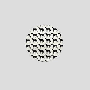 Greyhound Silhouette Flip Flops In Bla Mini Button