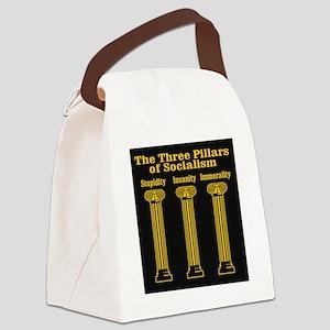 3 Pillars of Socialism Canvas Lunch Bag