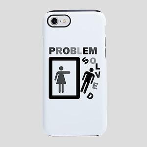funny divorce problem solved iPhone 7 Tough Case