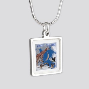 Sweet Dreams Silver Square Necklace