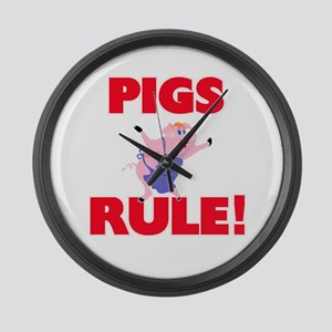Pigs Rule! Large Wall Clock