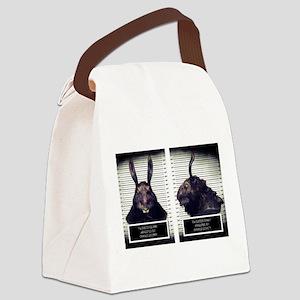 Evil Easter Bunny Rabbit Canvas Lunch Bag