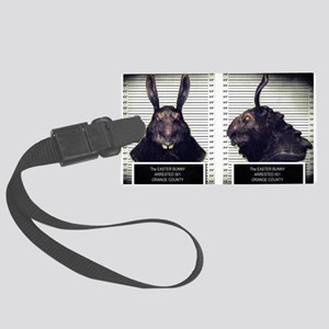 Evil Easter Bunny Rabbit Luggage Tag