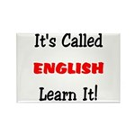 It's Called English Learn It Rectangle Magnet (10