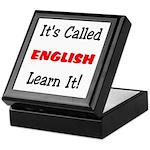 It's Called English Learn It Keepsake Box