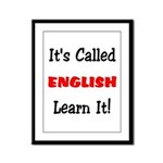 It's Called English Learn It  Framed Panel Print
