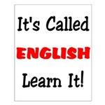 It's Called English Learn It Small Poster