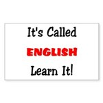 It's Called English Learn It Sticker (Rectangular