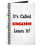 It's Called English Learn It Journal