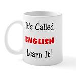 It's Called English Learn It Mug