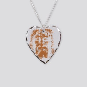 Jesus, Shroud of Turin Necklace Heart Charm