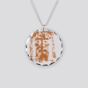 Jesus, Shroud of Turin Necklace Circle Charm