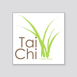 "tai chi growth 6 Square Sticker 3"" x 3"""