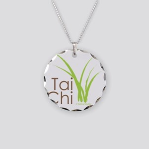 tai chi growth 6 Necklace Circle Charm