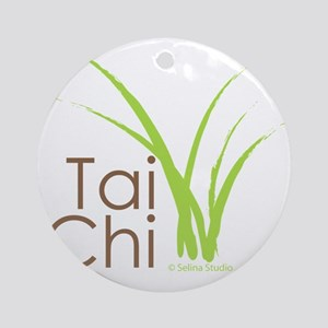 tai chi growth 6 Round Ornament