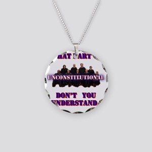 UnConstitutional Supremes Necklace Circle Charm
