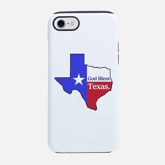 God Bless Texas iPhone 7 Tough Case