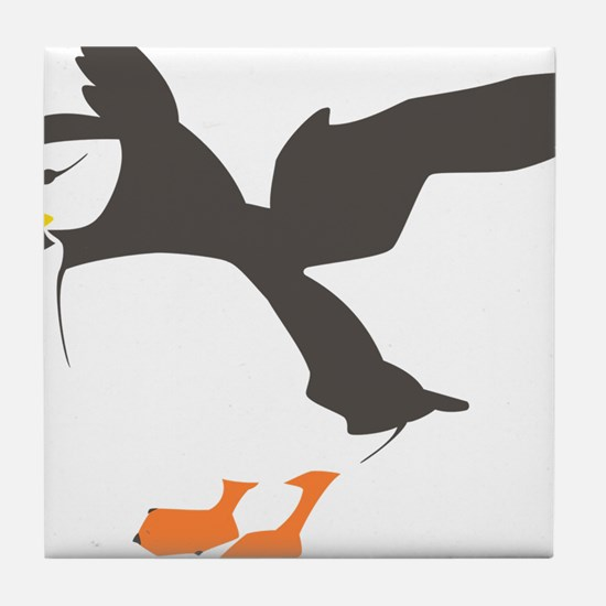 Puffin with Wings Tile Coaster