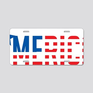 US Flag MERICA Aluminum License Plate
