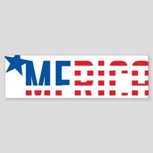 US Flag MERICA Sticker (Bumper)