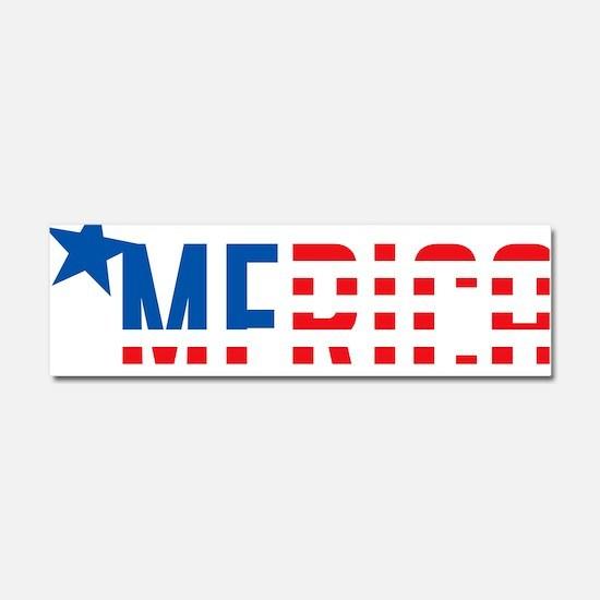 US Flag MERICA Car Magnet 10 x 3